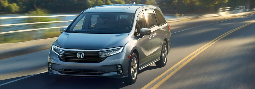 2021 Honda Odyssey driving on a road