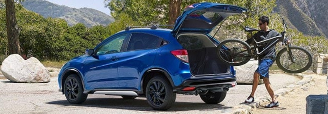 2021 Honda HR-V with rear liftgate open