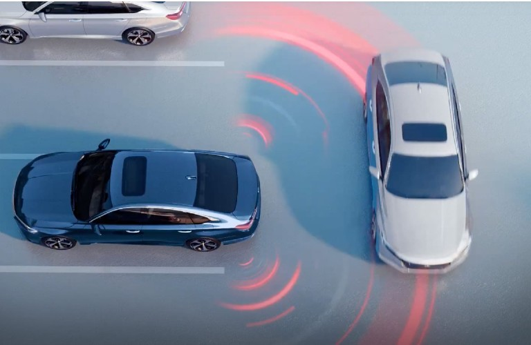 2021 Honda Accord Cross Traffic Monitor diagram