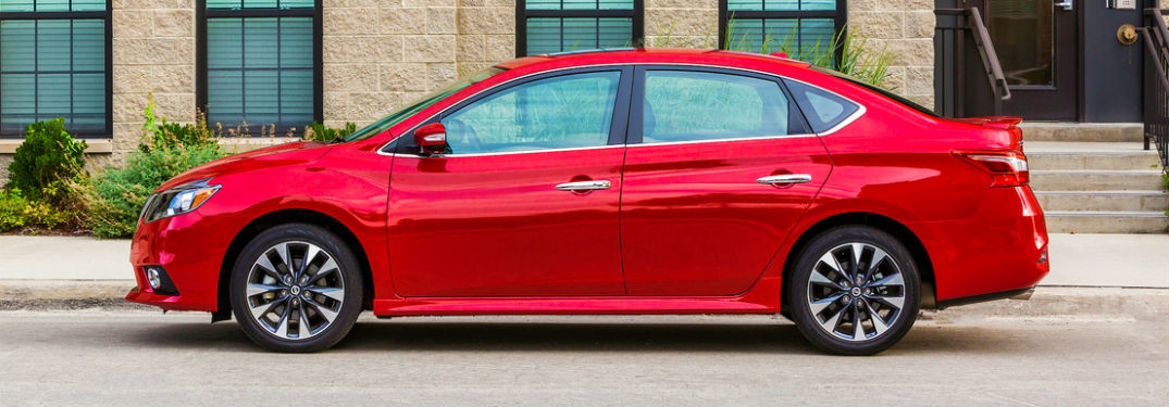 2019 Nissan Sentra in bright red turbo trim