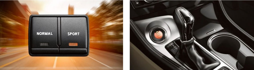 2019 Nissan Maxima sport mode button and shifter