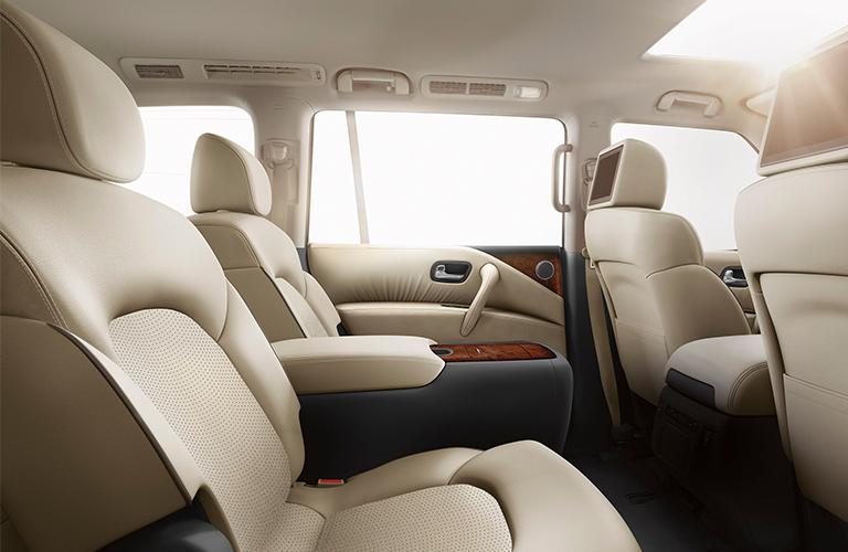 2020 Nissan Armada second-row captain's chairs