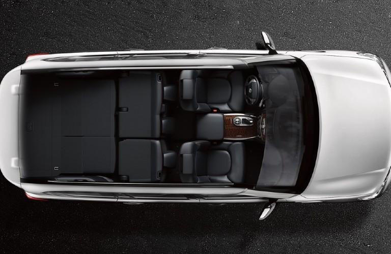 2020 Nissan Armada overhead view of rear cargo area