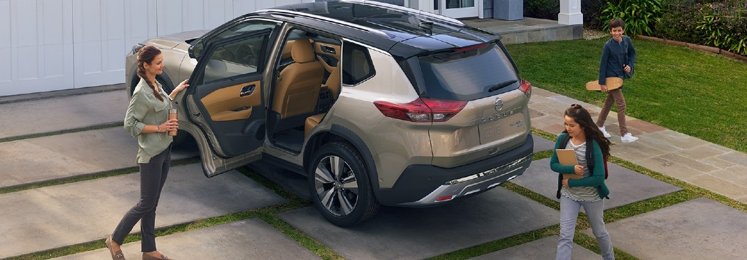 2021 Nissan Rogue parked in a driveway