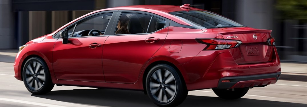 2020 Nissan Versa side and rear profile