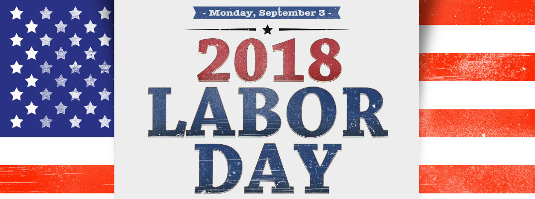 Labor Day 2018 September 3 date flag design