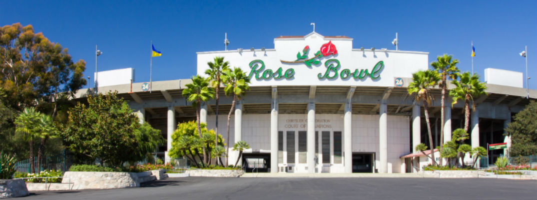 The Rose Bowl of Pasadena home of the UCLA Bruins