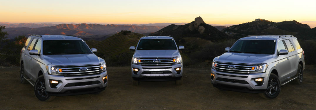 2018 ford expedition lineup in front of sunsetting desert