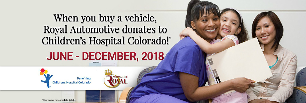 Details of Royal Automotive Promotion for Children's Hospital Colorado and a Nurse, Mother, and Daughter