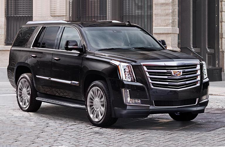 2018 Cadillac Escalade exterior in black