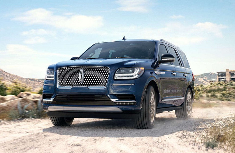 2018 Lincoln Navigator parked on a dusty path