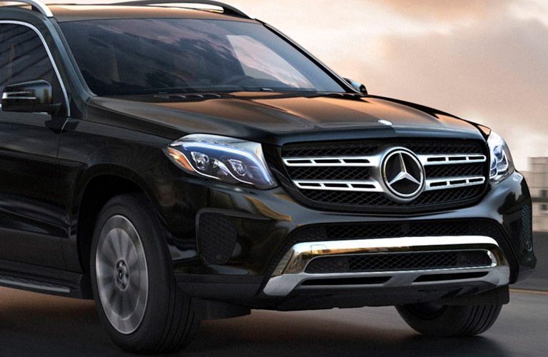 2018 Mercedes-Benz GLS-Class front fascia, headlights, and grille