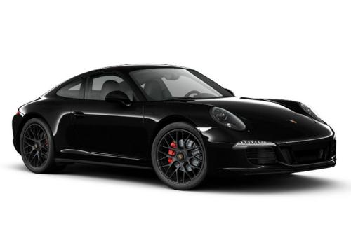 Black 2015 Porsche 911 GTS on a white background