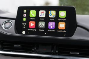 Mazda touchscreen with Apple CarPlay