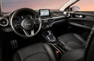 2019 Kia Forte front seats and dashboard