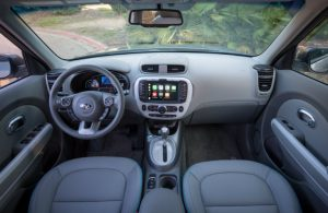 front seats and dash in kia soul