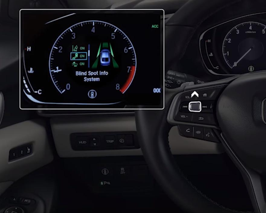 blind spot information screen on a Honda