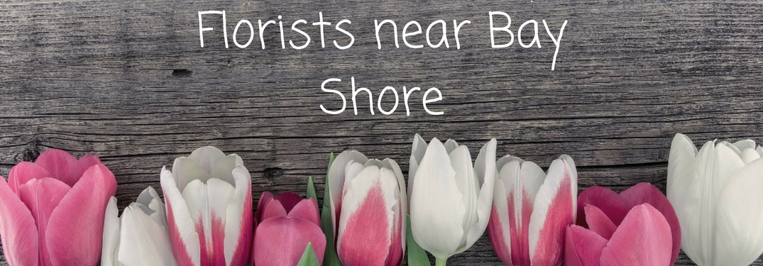 Tulips on wood board, Florists near Bay Shore