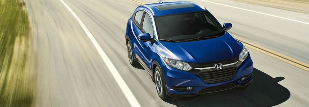 Blue 2018 Honda HR-V driving