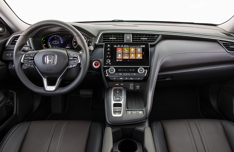 dashboard and front seats in 2019 Honda Insight