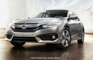 2018 Honda Civic Sedan parked on a bright ramp