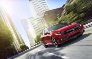 2019 Honda Civic Sedan driving in a city