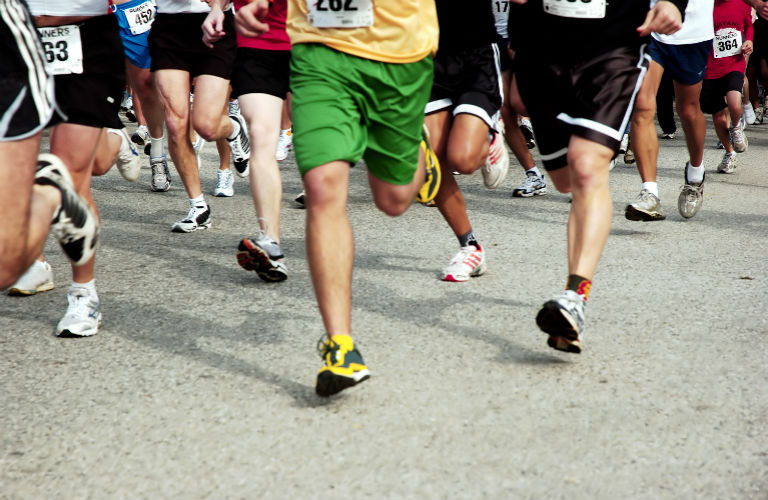 image of runners' feet