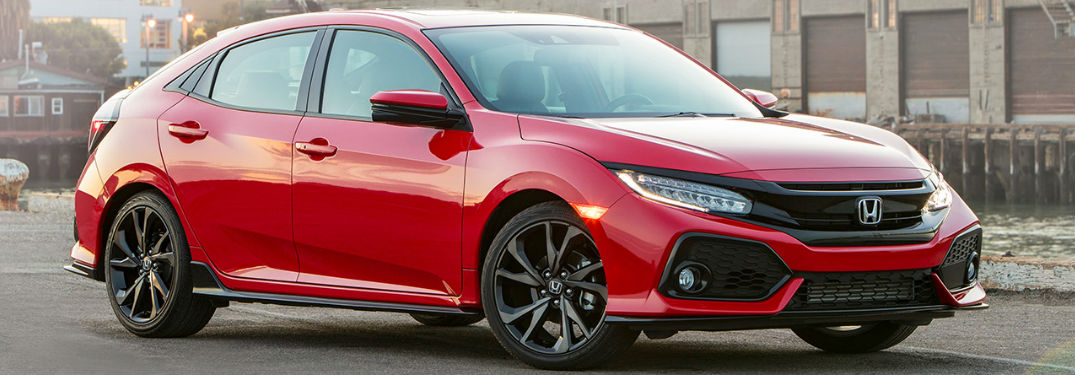 2019 Honda Civic Hatchback in red