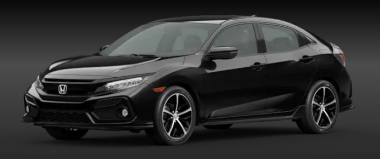 2020 Honda Civic Hatchback Crystal Black Pearl