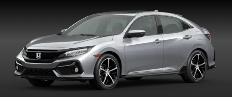 2020 Honda Civic Hatchback Lunar Silver Metallic