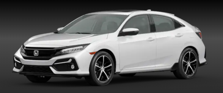 2020 Honda Civic Hatchback Platinum White Pearl