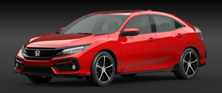 2020 Honda Civic Hatchback Rallye Red