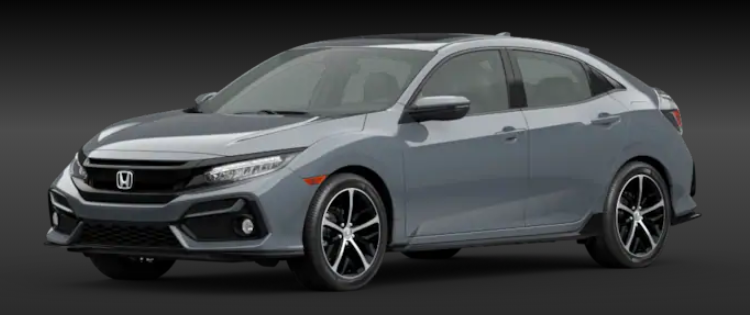 2020 Honda Civic Hatchback Sonic Gray Pearl