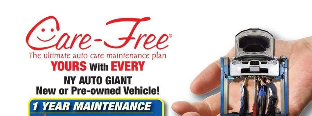 Atlantic Honda NY Auto Giant Care-Free ultimate auto care maintenance plan banner informational flyer