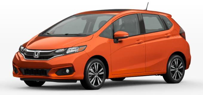 2020 Honda Fit Orange Fury