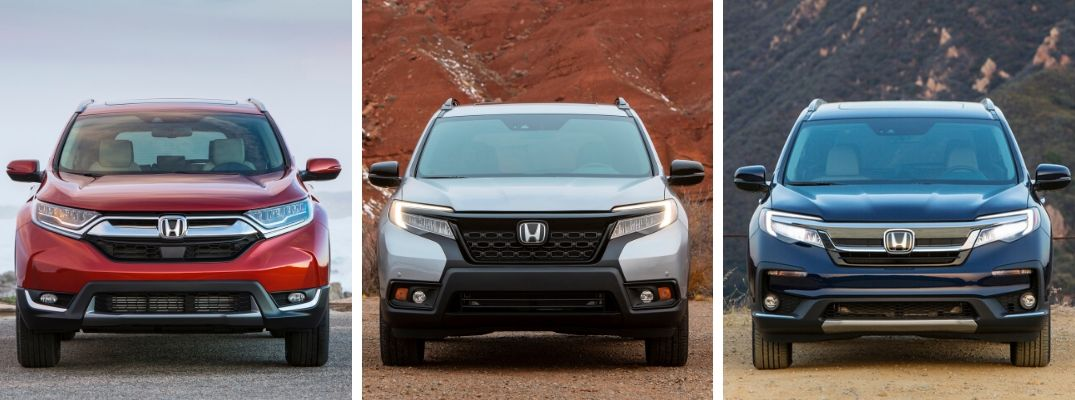 What are the Differences Between the 2020 Honda CR-V, Passport, and Pilot SUVs?
