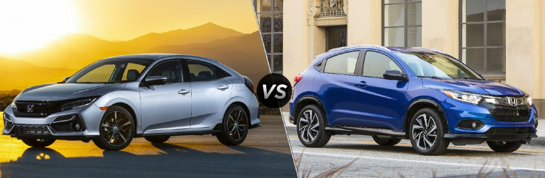 2020 Honda Civic Hatchback Sport Touring vs 2020 Honda HR-V Sport