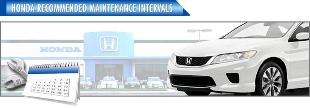 Honda Recommended Maintenance intervals banner at Atlantic Honda