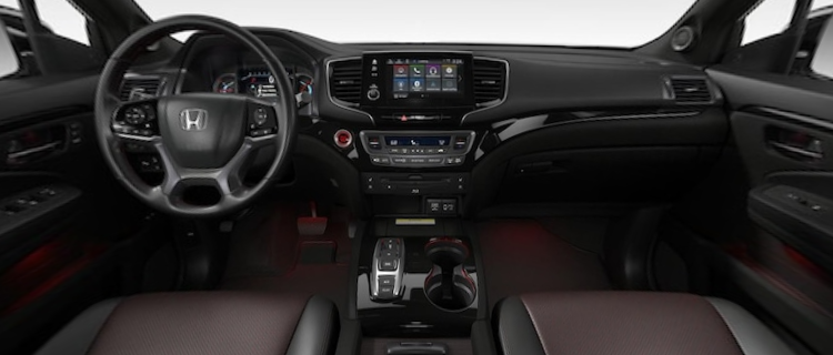 2021 Honda Pilot Black Perforated Leather