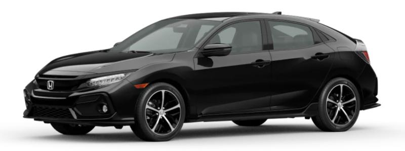 2021 Honda Civic Hatchback Crystal Black Pearl