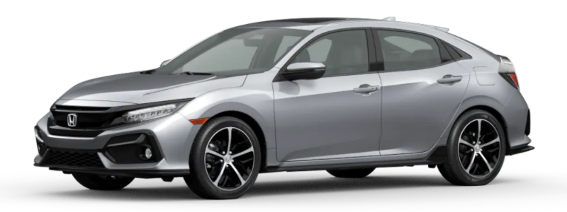 2021 Honda Civic Hatchback Lunar Silver Metallic