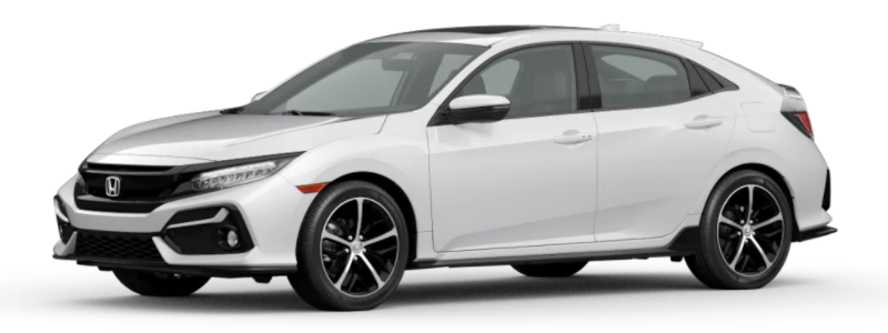 2021 Honda Civic Hatchback Platinum White Pearl