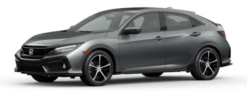 2021 Honda Civic Hatchback Polished Metal Metallic