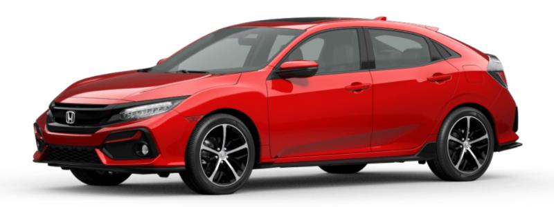 2021 Honda Civic Hatchback Rallye Red