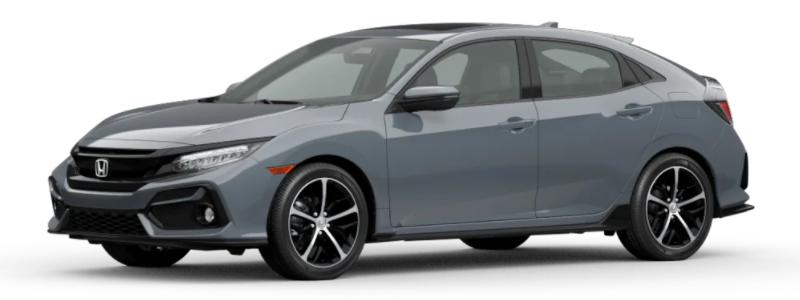 2021 Honda Civic Hatchback Sonic Gray Pearl