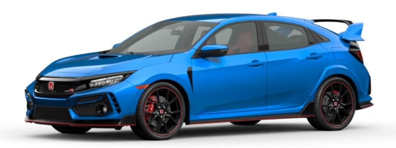 2021 Honda Civic Type R Boost Blue Pearl