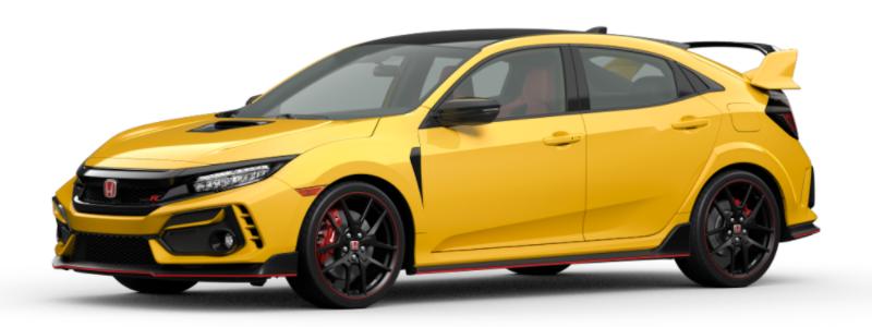 2021 Honda Civic Type R Phoenix Yellow