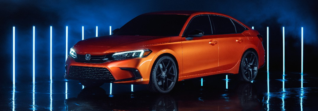 Next-Gen 2022 Honda Civic Prototype promo shot Twitch reveal with Solar Flare Pearl color option
