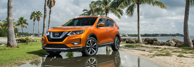 2018 Nissan Rogue front exterior orange
