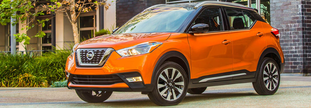 2018 Nissan Kicks parked by trees